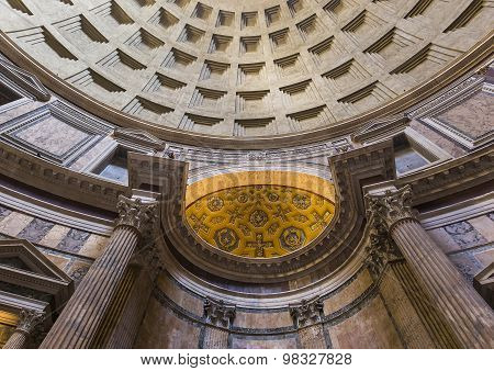 Interiors Of The Pantheon, Rome, Italy