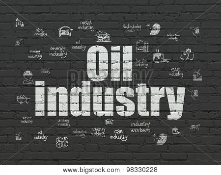 Manufacuring concept: Oil Industry on wall background