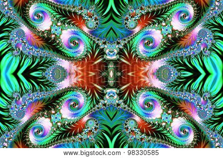 Multicolored Background With Spiral Pattern. Collection - Oriental Tales.