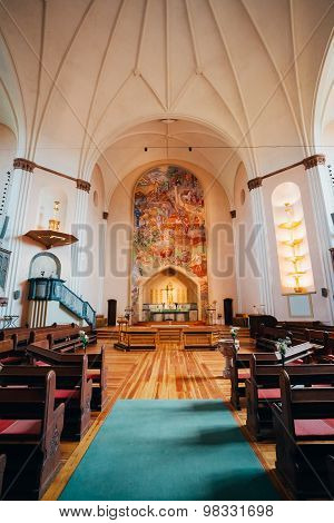 Interior Of Sofia Kyrka - Sofia Church - In Stockholm, Sweden