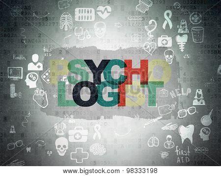 Healthcare concept: Psychologist on Digital Paper background