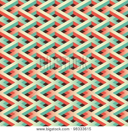 abstract seamless chain link fence pattern