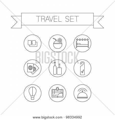 Linear travel icons