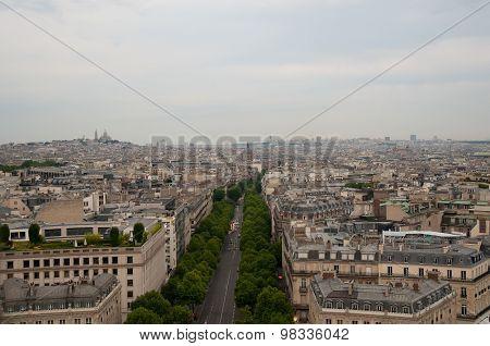 Aerial View Of Paris .