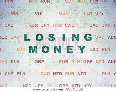 Currency concept: Losing Money on Digital Paper background