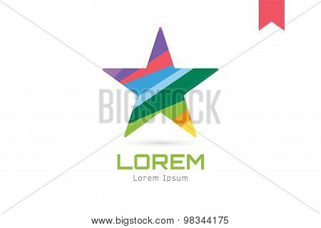 Star vector logo icon. Leader, boss, winner, rank or competition and shine symbol. Stock design elem