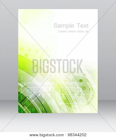 Abstract business flyer template or corporate banner