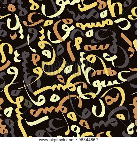 Seamless pattern with Arabic calligraphy Eid mubarak. Ornament for greeting card - beautiful backgro