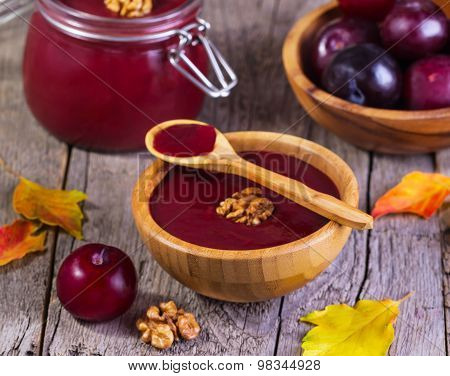 Jam With Plums And Walnuts