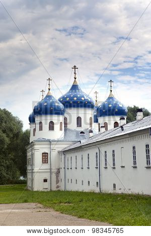 Russian orthodox Yuriev Monastery Church of Exaltation of the Cross Great Novgorod Russia
