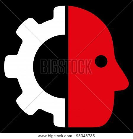 Cyborg icon from Business Bicolor Set