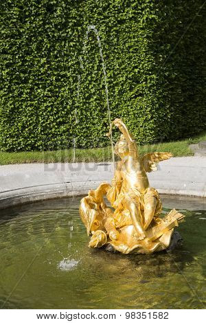 Golden Fountain At The Castle Park Linderhof, Bavaria