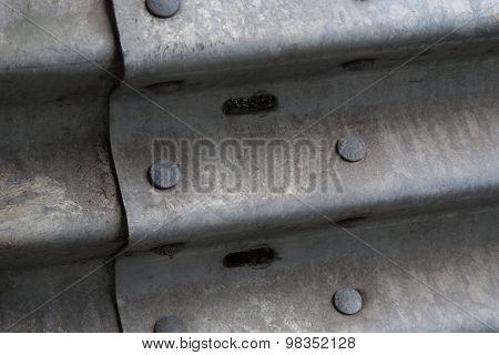 Rivets on guard rail