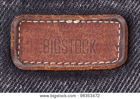 The Label On Old Black Jeans