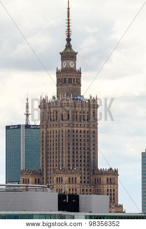 Warsaw. The city center with the Palace of Culture and Science.