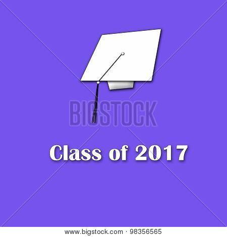 Class of 2017 White on Purple Single Large
