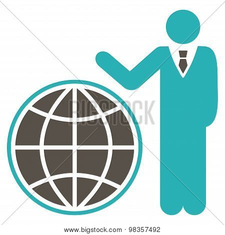 Planetary icon from Business Bicolor Set