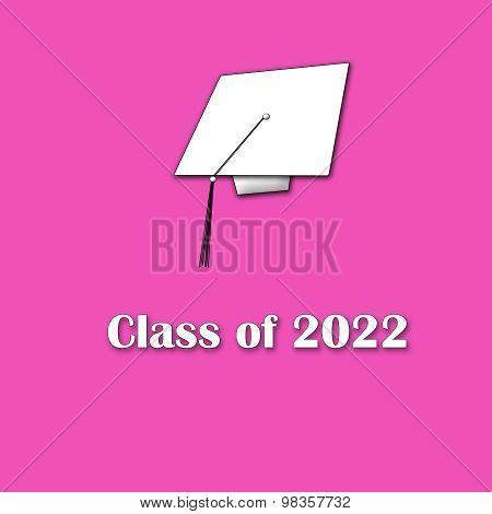 Class of 2022 White on Pink Single Lg