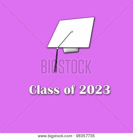 Class of 2023 White on Pink Single Lg