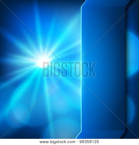 Background Blue Star Burst Effect Presentation Template