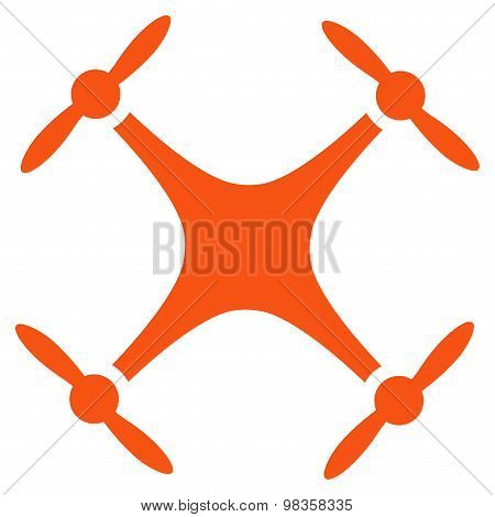 Quadcopter icon from Business Bicolor Set