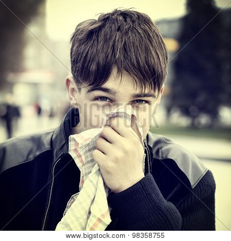 Teenager With Handkerchief