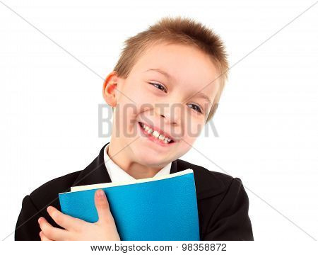Happy Kid With Exercise Book