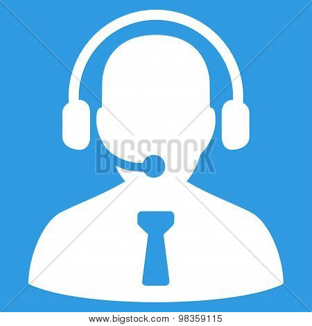 Reception operator icon from Business Bicolor Set
