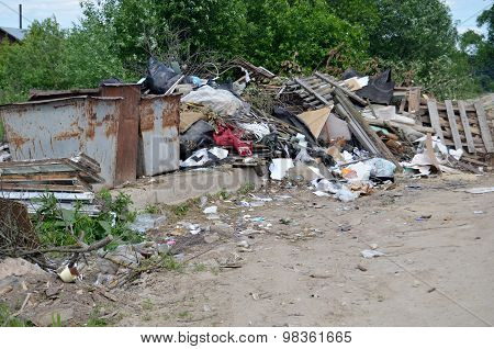 Garbage Dump In Rural Areas