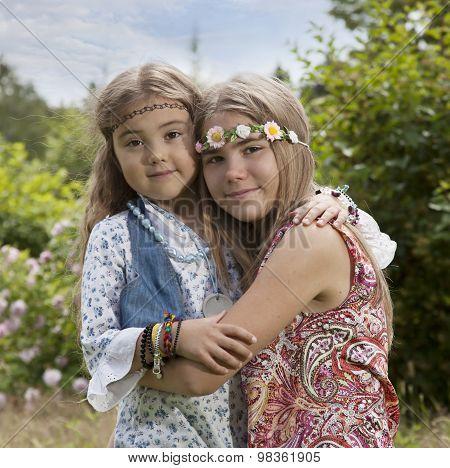 Portrait Of Flower Children