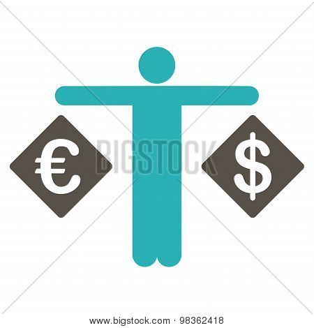 Currency Compare Flat Icon From Business Bicolor Set