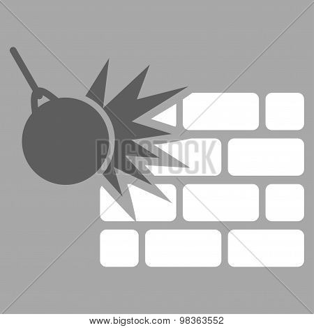 Destruction Flat Icon From Business Bicolor Set