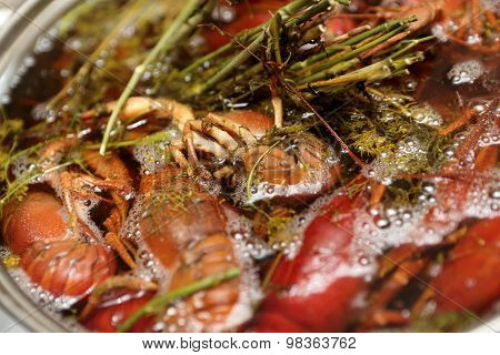 Boiled Crayfish With Herb