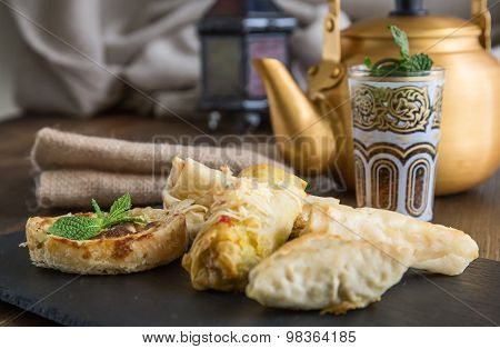 Typical Moroccan And Arabic Food