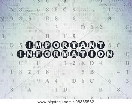 Information concept: Important Information on Digital Paper