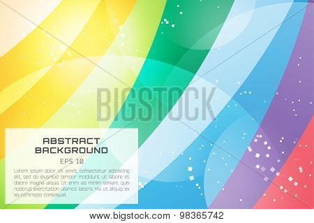 Abstract background vector wallpaper. Color waves, pattern, art, technology wallpaper, technology background. Stock vectors illustration