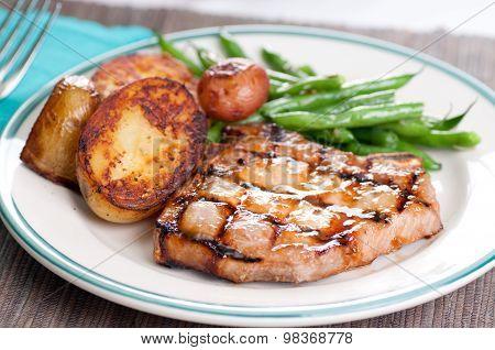 Pork Chop With Peach Sauce