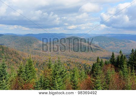 Mont Tremblant with Fall Foliage, Quebec, Canada