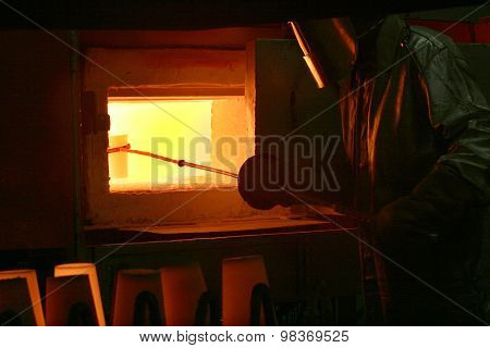 Worker In Foundry