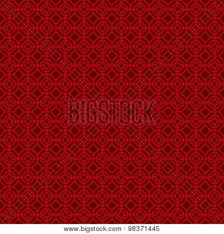 Seamless Chinese window tracery lattice polygon round line pattern.