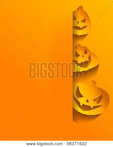 Vector Halloween background with stickers for Halloween