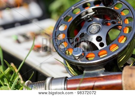 Fly Fishing Bugs And Road With Real