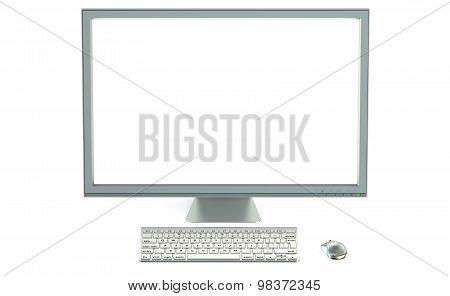 Desktop Computer With Blank Screen