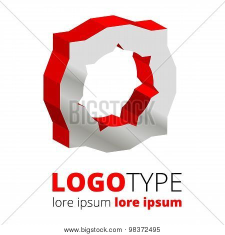 Abstract 3d vector logo