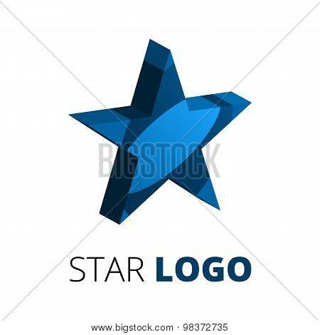 3d star logo template