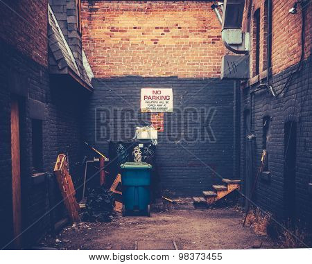 Grungy Urban Alley