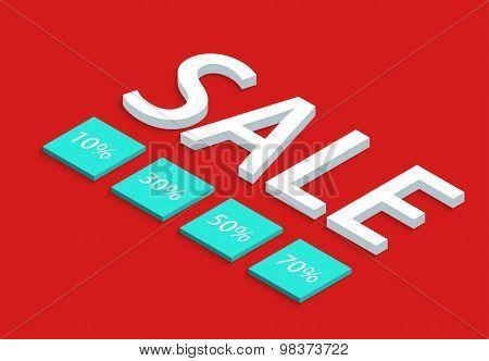 Vector modern sale discount set