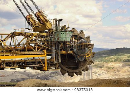 Extraction Of Soil And Detail Of Excavator