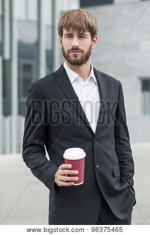 Ambitious Man With Coffee