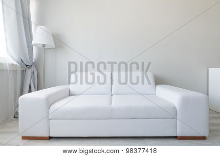 Comfortable Leather Double Sofa